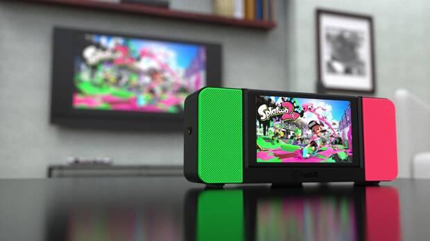 Diseñan un dock portátil con altavoces estéreo para Nintendo Switch Imagen 2
