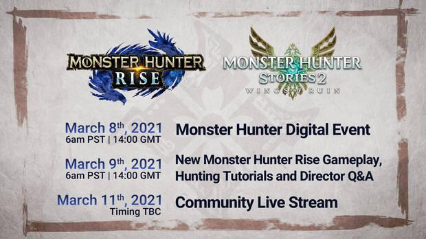 Monster Hunter evento digital hora y fecha