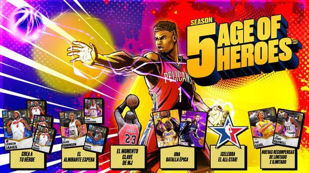 NBA 2K21 Mi Equipo Temporada 5 Recompensas cartas
