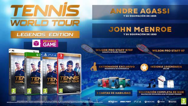 GAME detalla el contenido de su edición exclusiva para Tennis World Tour Imagen 2