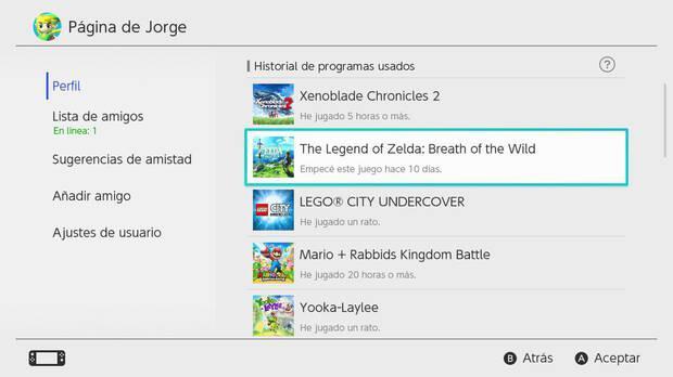 Nintendo Switch borra el registro de nuestras horas de juego tras un año Imagen 3