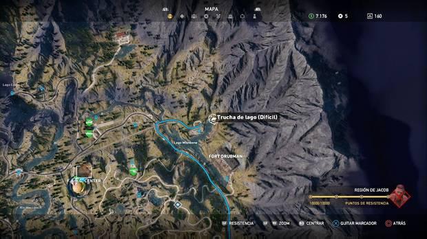 Far Cry 5, Animales, Trucha de lago (difícil)