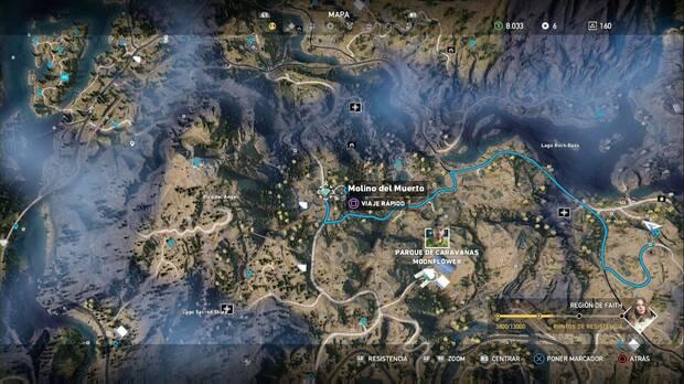 Far Cry 5, Escondites de preparacionista, región de Faith, el tesoro del muerto