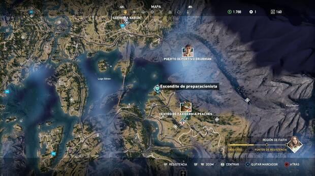 Far Cry 5, Escondites de preparacionista, región de Faith, recogedor de excrementos