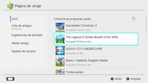 Nintendo Switch borra el registro de nuestras horas de juego tras un año Imagen 2