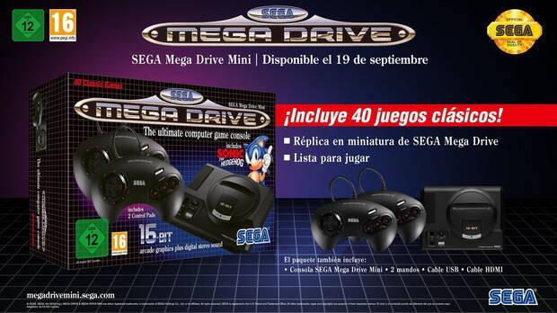 La Mega Drive Mini llegará el 19 de septiembre con 40 juegos Imagen 2