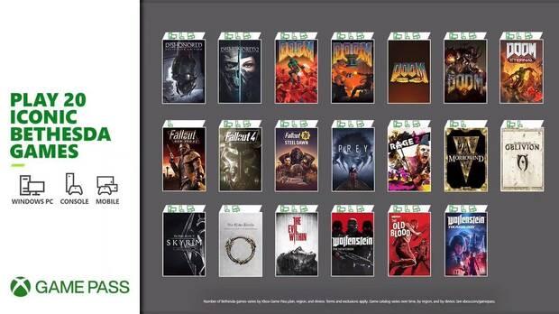 20 juegos de Bethesda llegan a Xbox Game Pass.