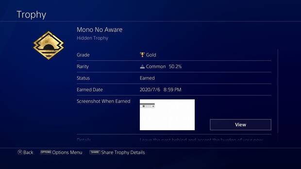 Ghost of Tsushima and its completion rate
