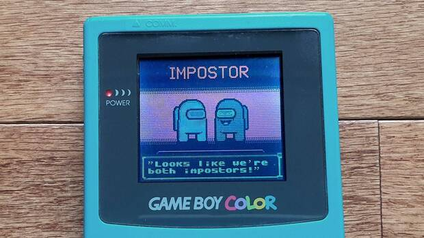 Super Impostor Bros., a fan game for GameBoy inspired by Among Us.