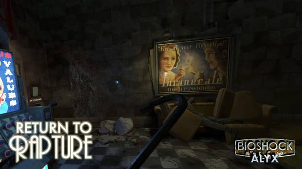Official screenshot of Half-Life Alyx's Return to Rapture mod.
