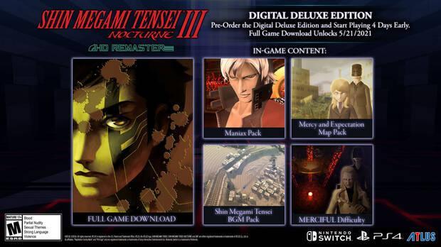 Shin Megami Tensei III Nocturne HD Remaster se lanza el 25 de mayo en PS4, Switch y PC
