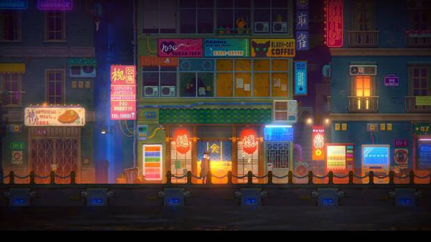 Captura de Tales of the Neon Sea.