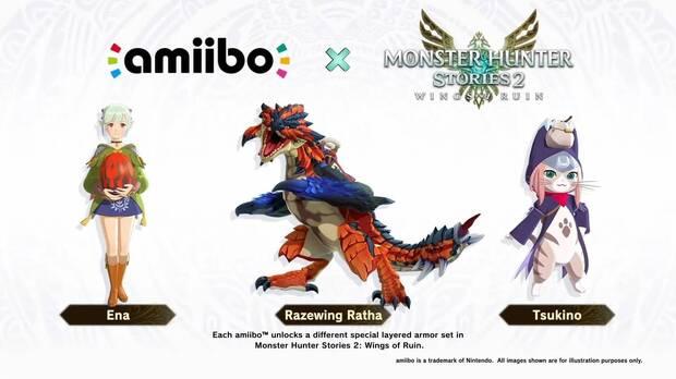 Amiibos de Monster Hunter Stories 2: Wings of Ruin.