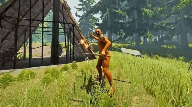 Canibal lanzador de dinamita The Forest