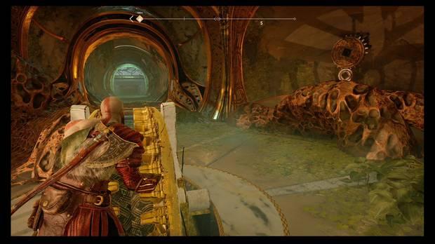 God of War - La luz de Alfheim - Gira la rueda y congela el mecanismo