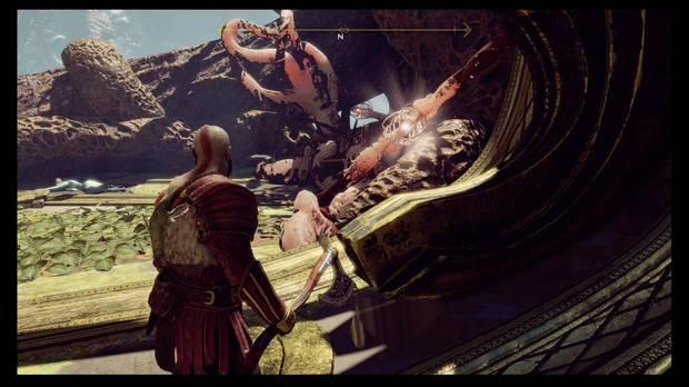God of War - La luz de Alfheim - Puedes romper las vainas desde aquí