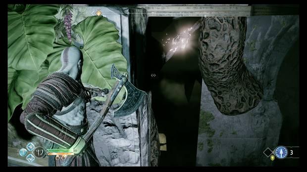 God of War - La luz de Alfheim - Puedes romper las dos vainas desde aquí