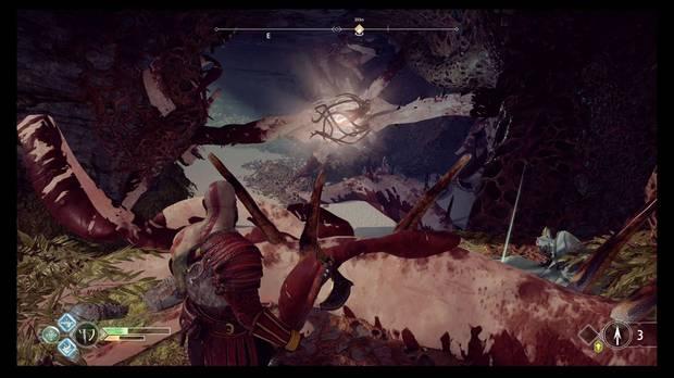 God of War - La luz de Alfheim - Desde aquí puedes romper las tres