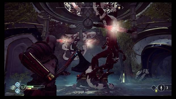 God of War - La luz de Alfheim - Lanza el hacha aquí