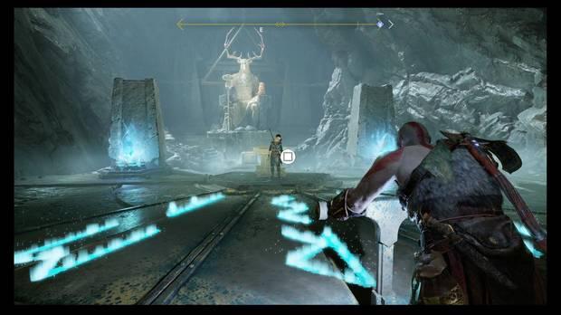God of War - Dentro de la montaña - Ahora se pueden leer las runas