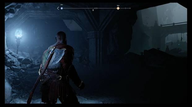 God of War - Dentro de la montaña - Sube por la izquierda