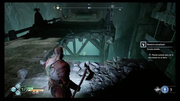 God of War - Dentro de la montaña - Hay un cuervo bajo el puente