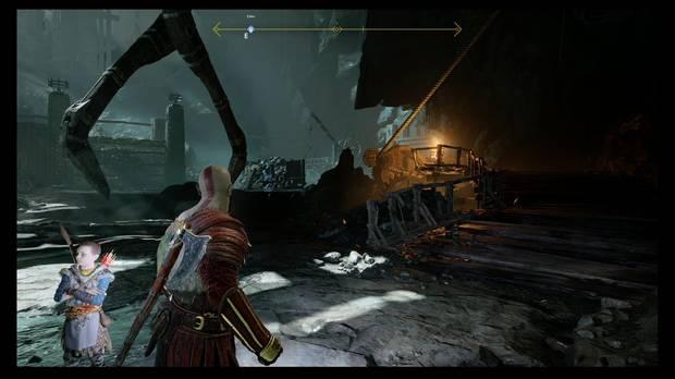 God of War - Dentro de la montaña - Activa el mecanismo junto a la antorcha