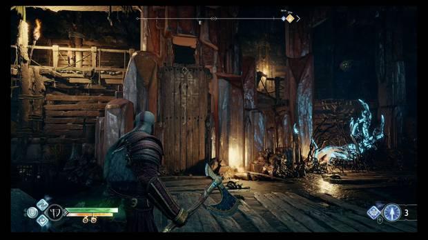 God of War - Un nuevo destino - Mueve la plataforma y rompe los maderos