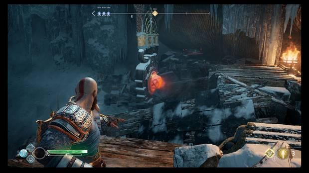 God of War - El cincel mágico - Dispara otra vez al cristal explosivo