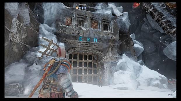 God of War - Detrás de la cerradura - Una reja con runas