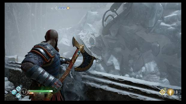 God of War - Detrás de la cerradura - El segundo sello, sobre la reja