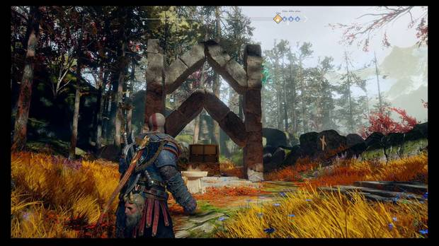 God of War - La runa negra - Cambia el Viento de la columna derecha a la izquierda