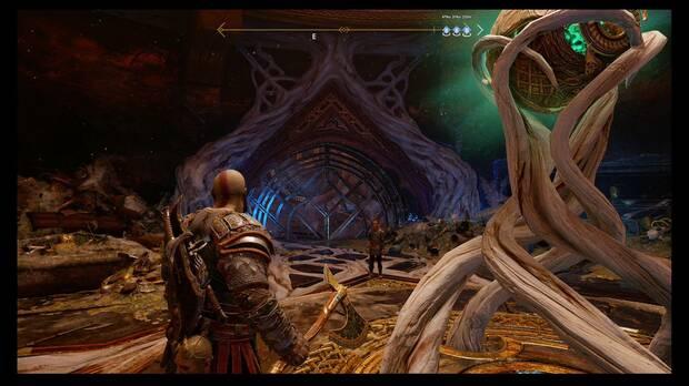 God of War - La runa negra - Golpea los paneles tras la reja