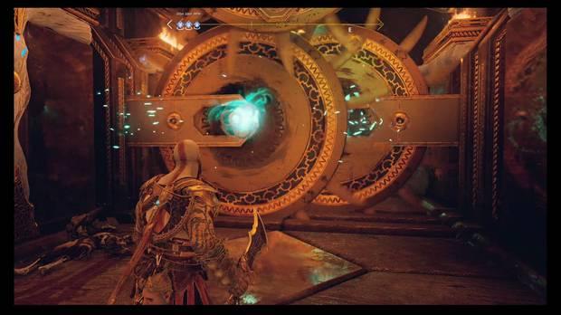 God of War - El camino a Jotunheim - Pon vientos en los discos para cruzar