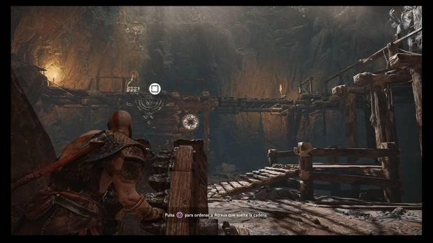 God of War - La senda a la montaña - Gira la rueda para que Atreus pase
