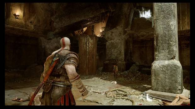 God of War - La senda a la montaña -  Ayuda a Atreus a subir por aquí