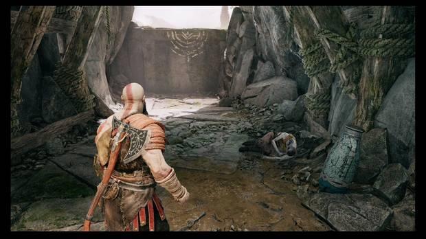 God of War - La senda a la montaña - Otro Rostro junto al cadáver