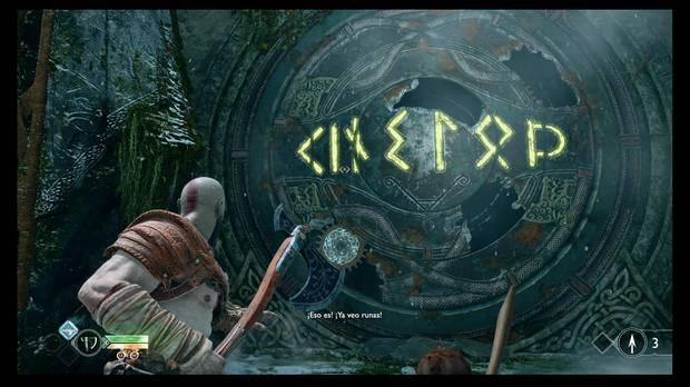 God of War - La senda a la montaña - El dibujo que deben formar los anillos