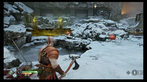 God of War - La senda a la montaña - A la izquierda hay algunas cosas