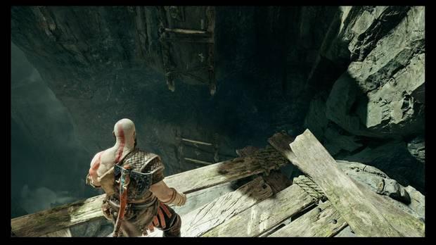 God of War - La senda a la montaña - Puedes ir hacia abajo