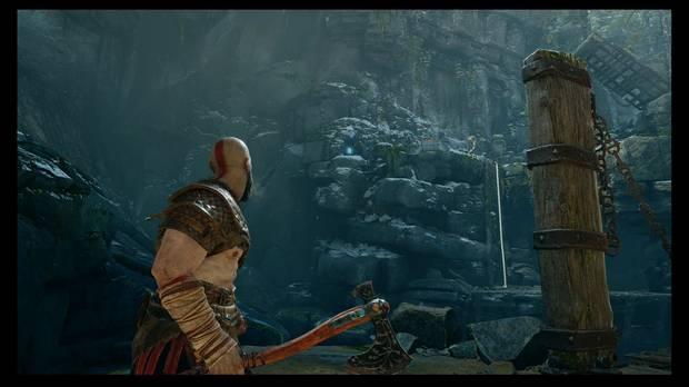 God of War - La senda a la montaña - Ve hacia la izquierda para encontrar un mural y un pergamino