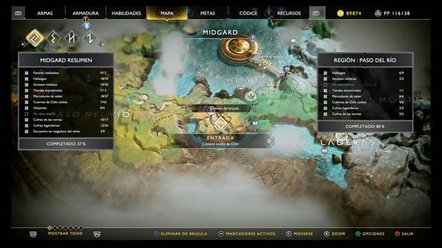 Localización cámara oculta 2 de Midgard en God of War PS4