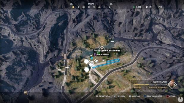 Far Cry 5, Escondites de preparacionista, Región de Jacob, El hangar de los líos