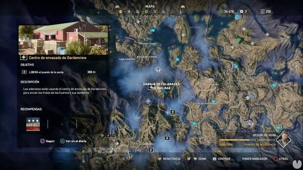 Far Cry 5, Puestos de la secta, Región de John, Centro de envasado de Gardenview