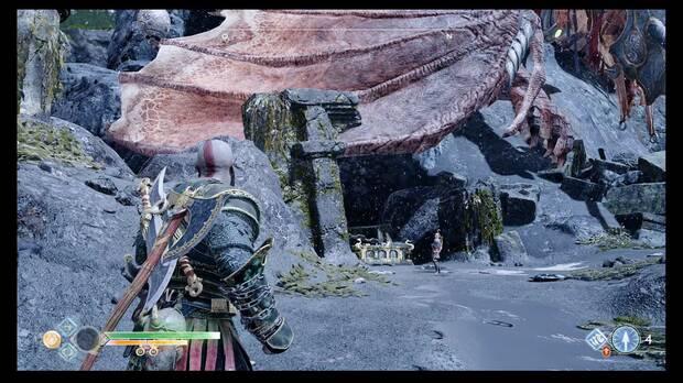 God of War, Cofres de las Nornas, Cavernas olvidadas, Dragón