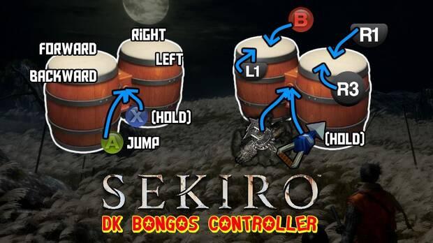 Se pasan Sekiro: Shadows Die Twice usando los bongos de Donkey Konga Imagen 2