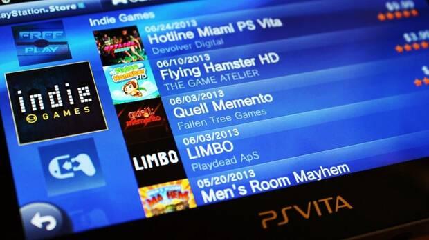 Imagen de la PS Store funcionando en PS Vita.