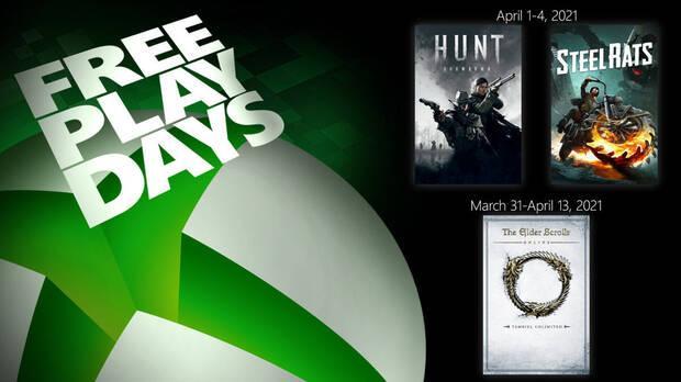 Pruebas gratuitas de Xbox Live Gold del 31 de marzo al 13 de abril de 2021.