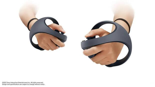 Controllers of the PlayStation VR of PS5.