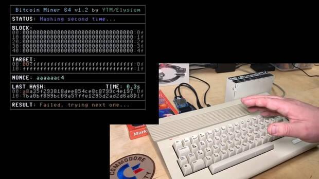 Commodore 64 minando bitcoin
